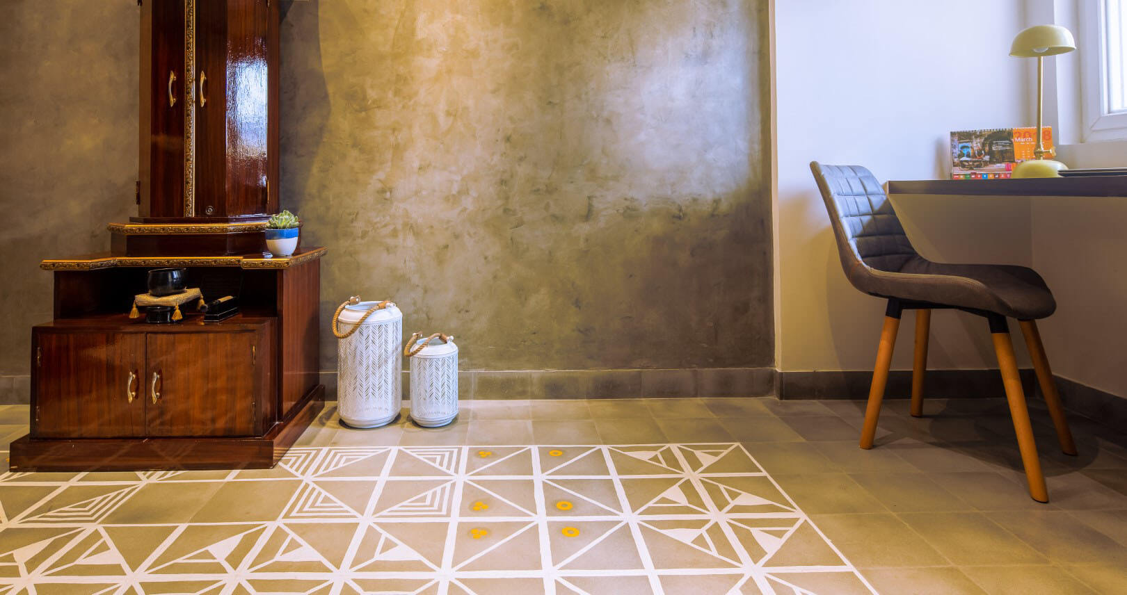 Bharat Floorings makes handcrafted cement floors. Each floor is unique and customized.