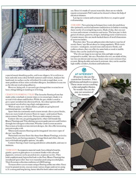 Living Etc The Home Magazine for Home Living featured BFT's CementStyle tile in their June 2018 issue.