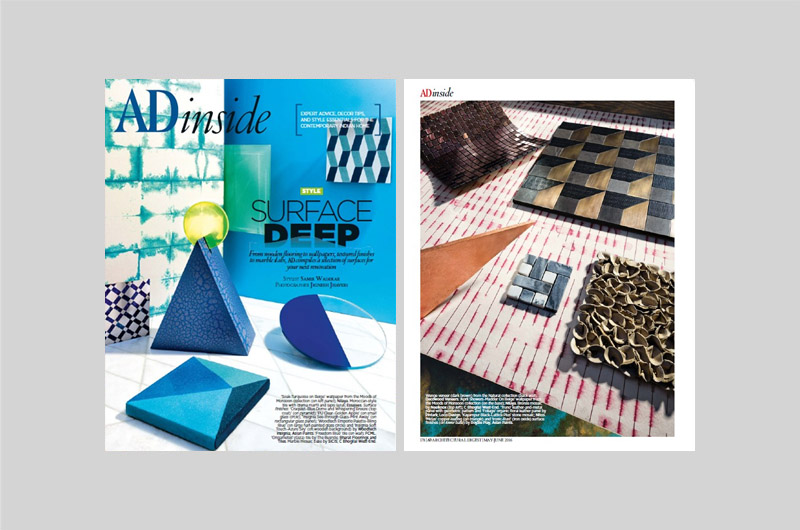 Architectural Digest India: Surface Deep May-June 2016
